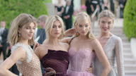 Camila Morrone Hailey Baldwin Elsa Hosk Martha Hunt at amfAR Gala Cannes 2017 at Hotel du CapEdenRoc on May 25 2017 in Cap d'Antibes France