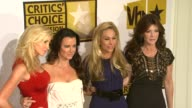Camille Grammer Kyle Richards Adrienne Maloof and Lisa VanderPump at the Critics' Choice Television Awards Luncheon at Beverly Hills CA