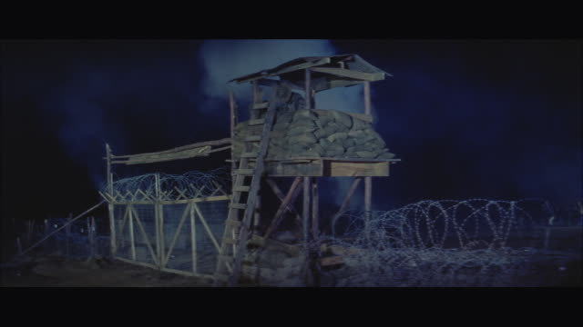 WS Camp battle with heavy explosions, observation tower falls