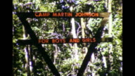 1964 Camp Martin Johnson Summer Camp Sign, Mother With Car