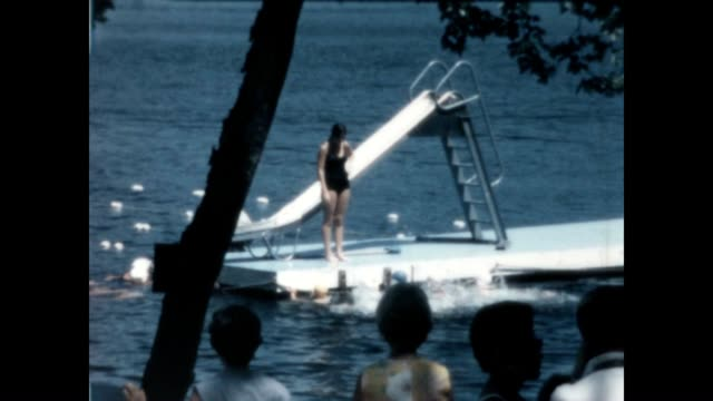 Camp Woodmere swimming from the late 1960's