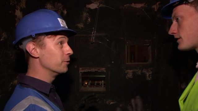 Campaign to reopen Alexandra Palace's Victorian theatre Mary Wells interview SOT Interiors of rundown theatre James White chatting to reporter SOT...