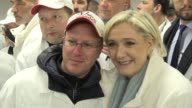 Campaigning at one of France's biggest food markets just outside Paris France's farright candidate Marine Le Pen takes aim at what she says is her...