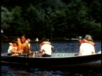 1973 MS Campers and counselors in rowboats on lake at Camp Sussex summer camp / Sussex, New Jersey