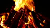 Campfire at night 1