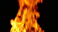 Campfire at night 2 - flames
