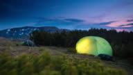 Campeggiare in montagna