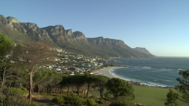 WS PAN Camps Bay and Twelve Apostles mountains, Cape Town, Western Cape, South Africa