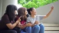 Campus girls selfie