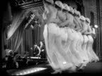 MS, LA, B&W, Can Can dancers on stage, 1920's