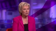 Can Hillary Clinton become the first woman President ENGLAND London GIR INT Tina Brown LIVE studio interview SOT Time for a woman President / could...