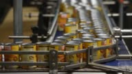 A can of Libby's Pumpkin travels on a conveyor at the Nestle USA Libby's processing facility in Morton Illinois US