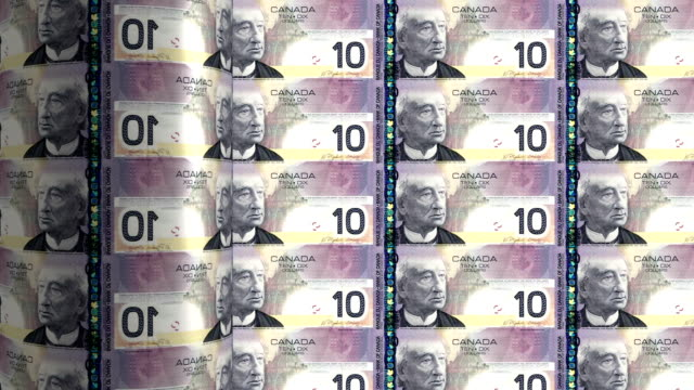 Canada dollar printing - animation