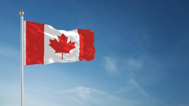 4K Canada Flag - Loopable