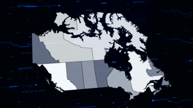 Canada network map