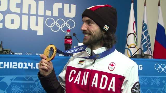 Canada's Charles Hamelin claims his third Olympic gold medal as he wins the men's 1500m short track speed skating title CLEAN Olympics Hamelin wins...
