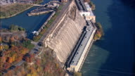 Canada-Sir Adam beck hydroelectric power plant - Aerial View - New York,  Niagara County,  United States