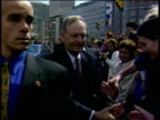 Canadian Prime Minister Jean Chretien shakes hands with well wishers 26 Apr 01