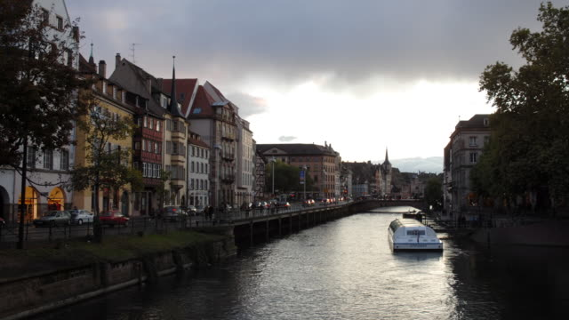 T/L, WS, Canal and street, Strasbourg, Alsace, France