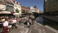 Canal-side Restaurants, Arhus, Denmark