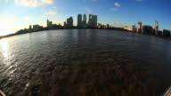 Canary wharf und die Themse HD-Videos