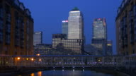 Canary Wharf at Dusk.From Nelson's Dock.