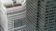 Canary Wharf Complex  - Aerial View - England, Greater London, Tower Hamlets, United Kingdom