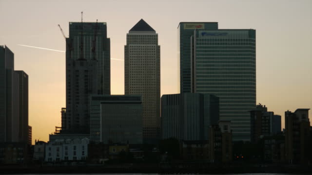 Canary Wharf timelapse HD video London