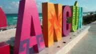 Cancun Playa Delfines beach, dolly shot