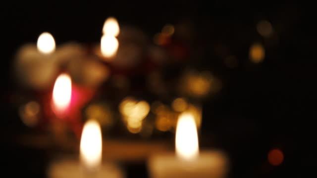 Candles Defocused Seamless Loop.