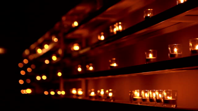 Candles placed in a row.