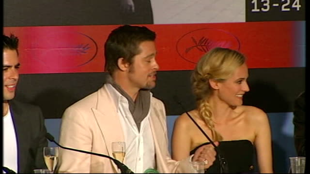 'Inglourious Basterds' premiere INT Brad Pitt press conference SOT talks of working on script for eight years