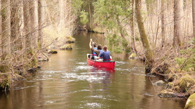 Canoe / Kayaking trip in forest
