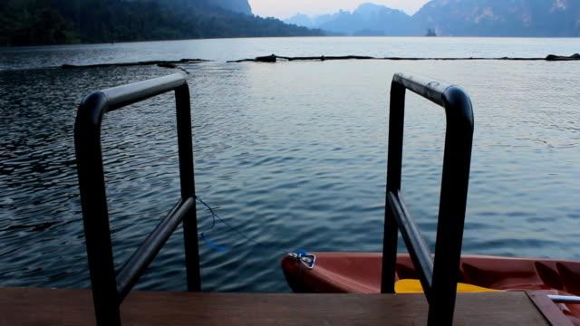 Canoe near jetty