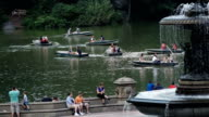 Canoeing in Central Park Lake, New York City