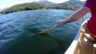 Canoeing on Alta Lake in Whistler, BC, Canada
