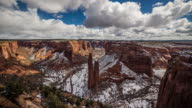 Canyon De Chelly Timelapse / Spider Rock / Snow