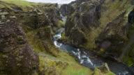 Canyon gezien vanaf het toeristische voetpad