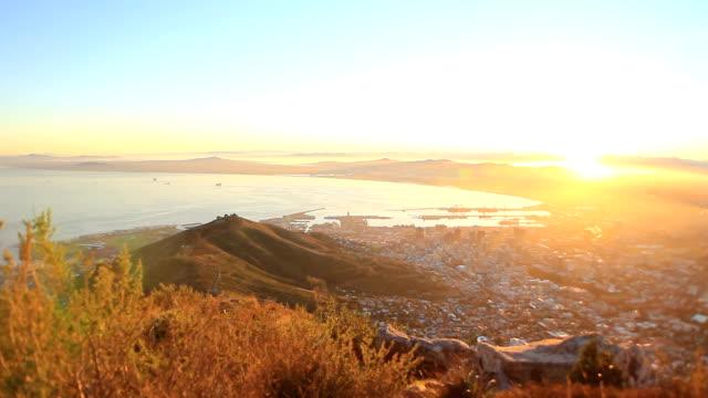 Cape Town alba dall'alto