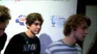 Interviews 5 Seconds of Summer posing for photocall and interview SOT Lisa Snwoden posing for photocall Ella Eyre posing for photocall and interview...