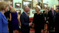 Capitalism Charles meets Christine Lagarde ENGLAND London PHOTOGRAPHY*** GVs Prince Charles enters room and shakes hands with Christine Lagarde Lynn...