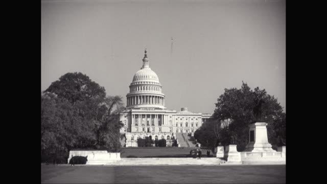 WS POV Capitol Building against sky on sunny day / Washington DC, United States