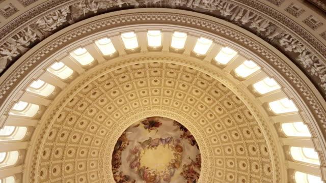 U.S. Capitol Building Rotunda in Washington, DC - 4k/UHD