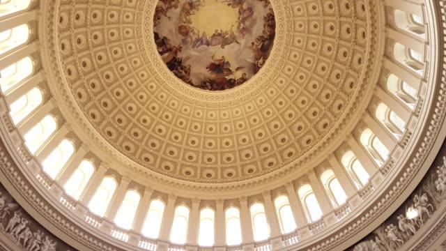 U.S. Capitol Building Rotunda Thomas Jefferson in Washington, DC - 4k/UHD