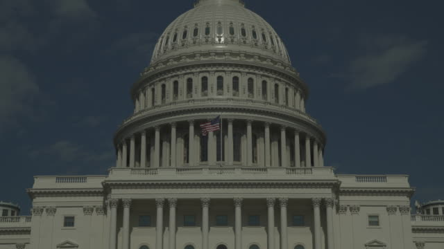 U.S. Capitol Building West Facade Zoom Out in Washington, DC - in 4k/UHD