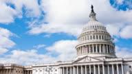 US Capitol/Congress und Wolken Zeitraffer