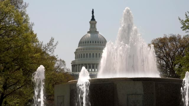 U.S. Capitol Dome and Fountain Zoom In