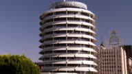 WS ZI Capitol Records tower at corner of Vine and Yucca street / Hollywood, California, USA