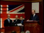 Captin Scott Possessions Auction ENGLAND London Christie's CMS auctioneer describing Captain Scott's Union flag SOT MS man speaking on telephone and...