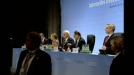 Navy crewman's 'apology' broadcast VIA EBU GERMANY Bremen Foreign Ministers seated for press conference Javier Solana press conference SOT this is...